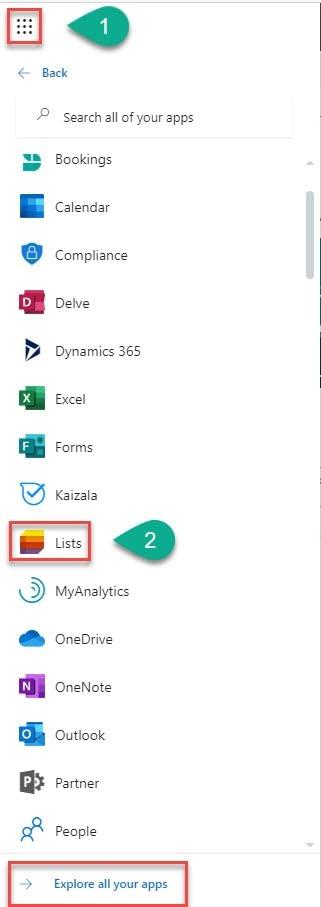 Select list app