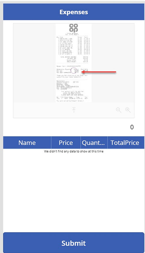 AI identifies receipt data