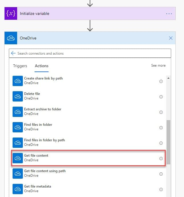 Power Automate attach OneDrive file