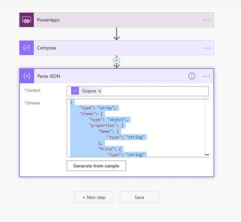 JSON scheme created.